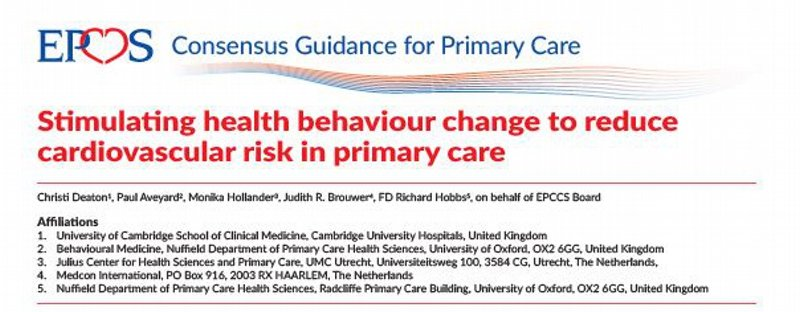 Stimulating health behaviour changes to reduce cardiovascular risk in primary care