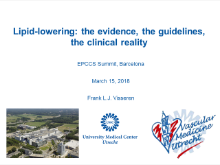 **EPCCS 2018** Slides prepared and presented byProf. Frank Visseren (Utrecht, The Netherlands), here offered as an educational service.