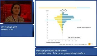 A recording of the presentation byDr. Nuria Farré, who gave the specialist perspective in the discussion on how to best diagnose and monitor heart failure in primary care, and how to manage comorbidities.