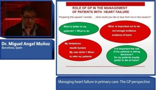 A recording of the presentation by Miguel Angel Muñoz, who gave the GP perspective in the discussion on how to best daignose and monitor heart failure in primary care, and how to manage comorbidities.