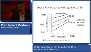 A recording of the lecture by prof. McManus, in which he considered why guidelines do not agree on BP targets, and how GPs can best manage hypertension.