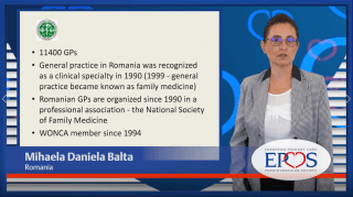 EPCCS Council member Mihaela Daniela Balta provides a brief overview of the current organisation of primary care in Romania.